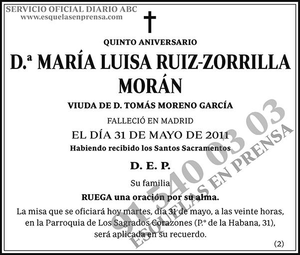 María Luisa Ruiz-Zorrilla Morán